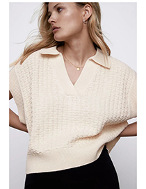 Fashion Off White Knitted Vest