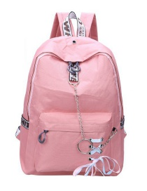 Fashion Pink Chain Strap Large-capacity Backpack