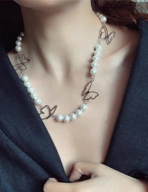 Fashion Pearl Pearl Butterfly Necklace