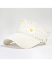 Fashion Beige Little Daisy Knitted Empty Sun Hat