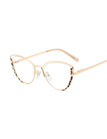 Fashion C13 Leopard Print/anti-blue Light Anti-blue Light Can Be Equipped With Myopia Metal Flat Mirror