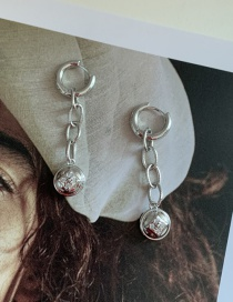 Fashion Silver Color Chain Ball Alloy Earrings