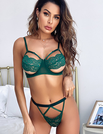 Fashion Emerald Lace Suit