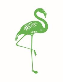 Fashion 55*28cm Green Flamingo Wall Sticker