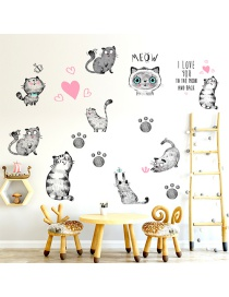 Fashion 30*90cm Black Hand Painted Cat Wall Sticker