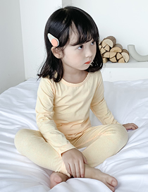 Fashion Yellow Dots Cotton Solid Color Childrens Warm Clothing