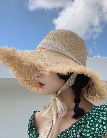 Fashion Beige Foldable Raffia Woven Straw Hat