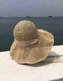 Fashion Beige Foldable Woven Straw Hat