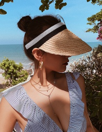 Fashion Beige Sun-shading Straw Hat