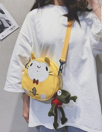 Fashion Yellow Canvas Animal Crossbody Shoulder Bag