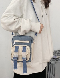 Fashion Blue Nylon Shoulder Messenger Bag