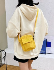 Fashion Yellow Canvas Embroidered One-shoulder Messenger Bag