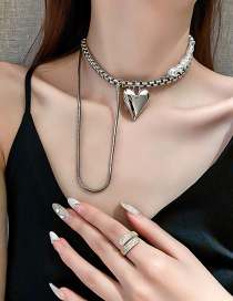 Fashion Silver Necklace Love Pearl Necklace
