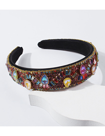 Fashion Color Diamond-encrusted Color Drill Headband