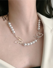 Fashion Pearl Hollow Butterfly Pearl Necklace