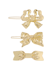 Fashion Bowknot Combination 3 Pcs/set Alloy Bow Hairpin Set
