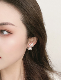 Fashion Gold Color Butterfly Pearl Earrings
