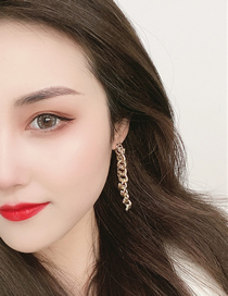 Fashion Gold Color Chain Gold Tassel Earrings