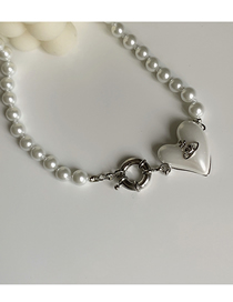 Fashion Silver Color Necklace Love Planet Pearl Necklace