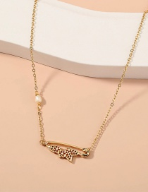 Fashion Gold Color Metal Butterfly Necklace