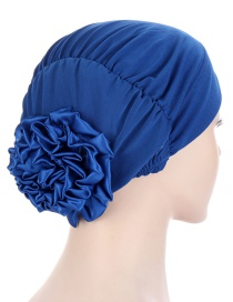 Fashion Royal Blue Gradient Disc Flower Toe Cap