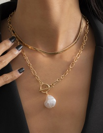 Fashion Gold Color Shaped Imitation Pearl Necklace