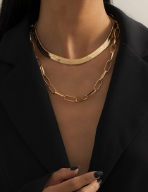 Fashion Gold Color Metal Hollow Chain Necklace