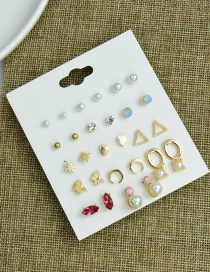 Fashion Color Multiple Pairs Of Alloy Geometric Earrings Set