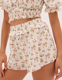 Fashion White Floral Short Shorts