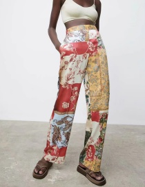 Fashion Color Patchwork Loose Trousers