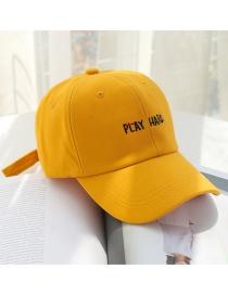 Fashion Natural Yellow Alphabet Baseball Cap