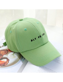 Fashion Fruit Green Soft Top Sunshade Letter Bend Brim Baseball Cap