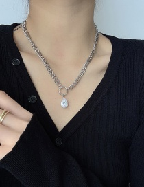 Fashion Silver Color Metal Thick Chain Necklace
