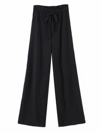 Fashion Black Solid Color Trousers