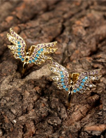 Fashion Gold Color Wings Hollow Angel Wing Earrings