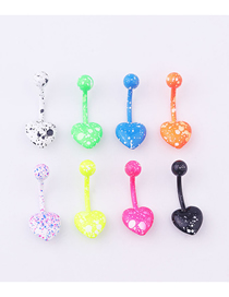 Fashion Heart-shaped Stainless Steel Heart-shaped Belly Button Nail Set