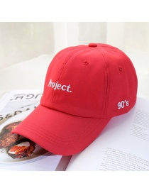 Fashion Big Letter Red Letter Embroidered Baseball Cap
