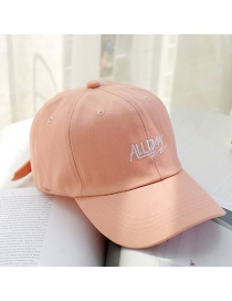 Fashion Pink Allday Letter Sunshade Soft Top Baseball Cap
