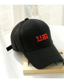 Fashion Red Letter Black Hat Alphabet Baseball Cap
