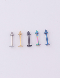 Fashion 5 Mixed Colors Stainless Steel Piercing Spherical Lip Nail