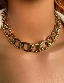 Fashion Golden Alloy Thick Chain Necklace