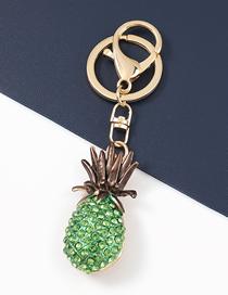 Fashion Green Alloy Diamond-studded Pineapple Pendant