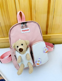 Fashion Pink Bear Backpack