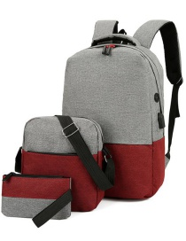 Fashion Red Can Logo Backpack Computer Bag