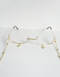 Fashion Gold With Glasses Chain Drop Chain Glasses