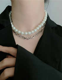 Fashion Necklace Pearl Chain Double Layered Necklace
