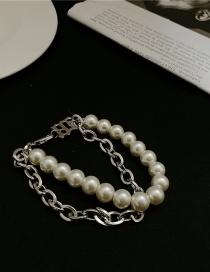 Fashion Bracelet Pearl Chain Double Layered Bracelet