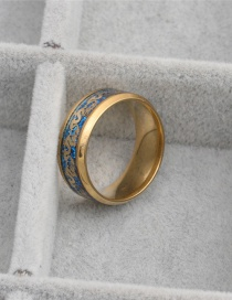 Fashion Blue Four-color Double Dragon Ring