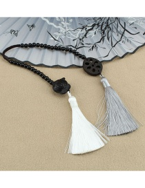 Fashion More Than A Year In The Lotus Car Pendant Ebony Lotus Root Piece Tassel Pendant