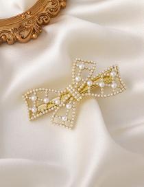 Fashion Bowknot Pearl Bow Hairpin